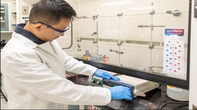 UCF researcher develops safer method for electric cars, batteries