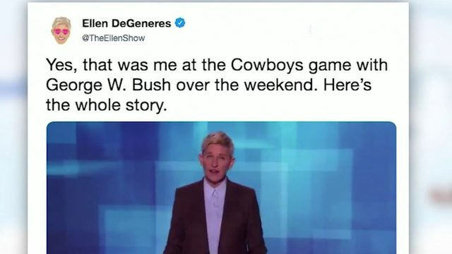 Mixing it up with CJ: Ellen and President George W. Bush; Beyonce's…