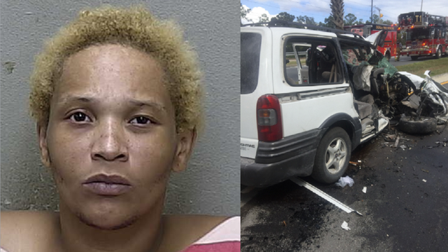 Florida mother accused of driving her children into a palm tree is now in jail