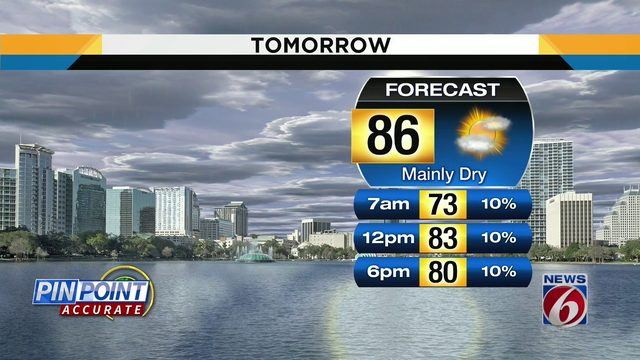 Temps could hit 86 on Friday in Central Florida