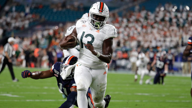 Miami beats No. 20 Virginia 17-9