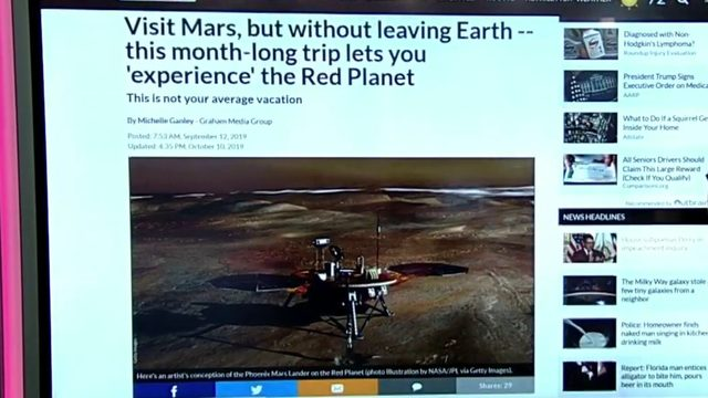 How to visit Mars without leaving Earth