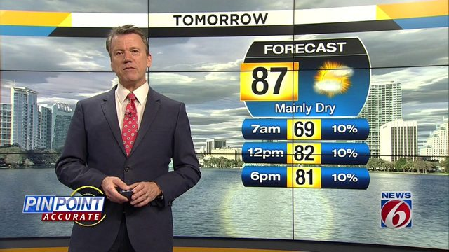 Temps could hit 87 on Saturday in Central Florida