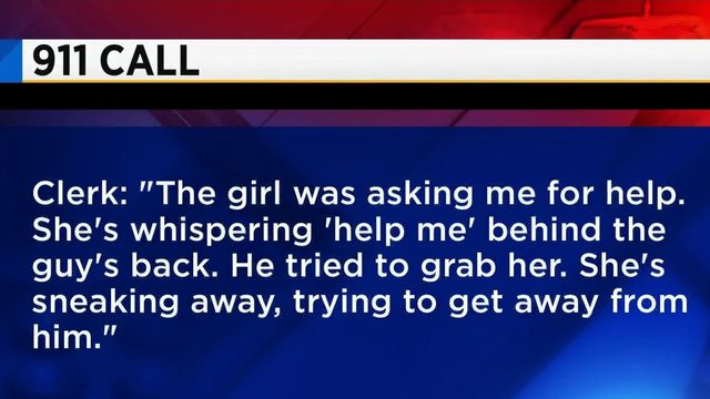 Gas station clerk alerts authorities after woman whispers for help
