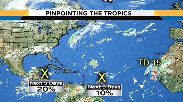 3 areas being monitored in tropics