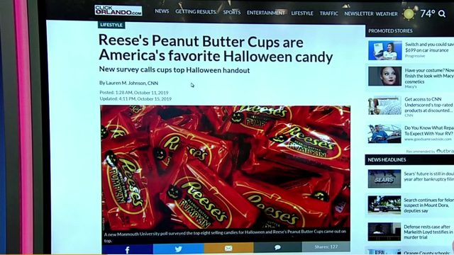 Reese's Peanut Butter Cups wins as America's favorite candy