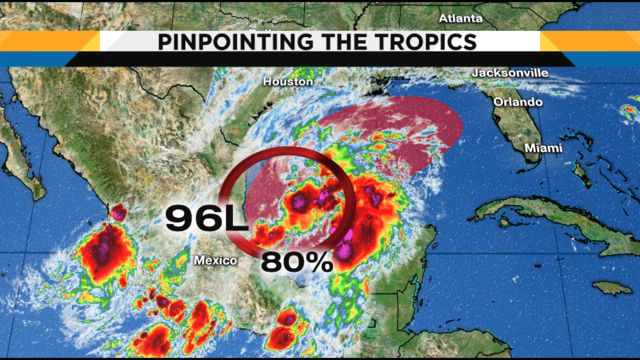 Tropics: Disturbance in Gulf has 80% chance of development