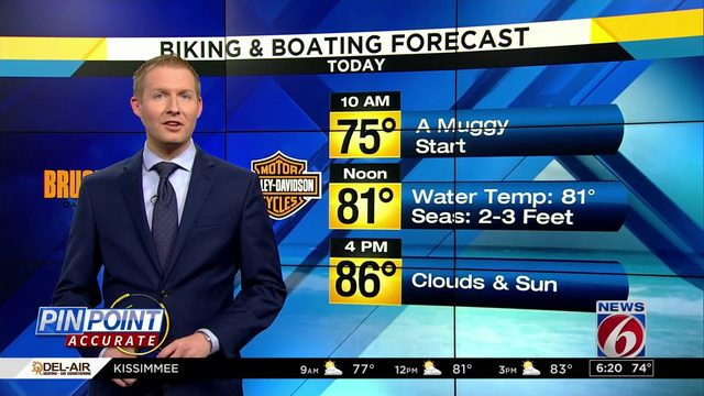 Biking and Boating: Lower water levels for decent boating day