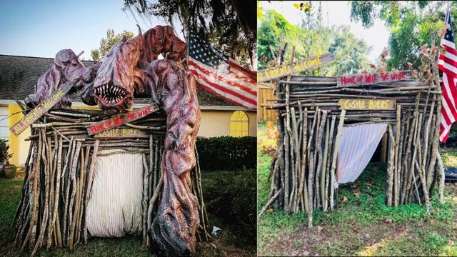 Florida man's 'Stranger Things' display steals Halloween