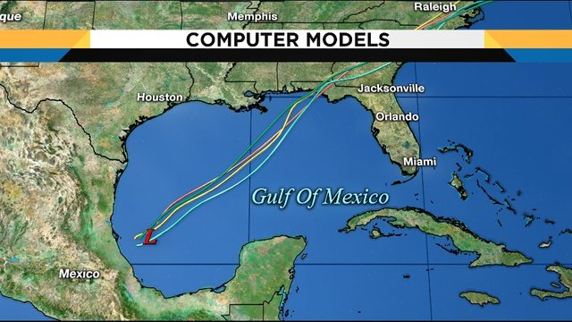 LIVE UPDATES: Satellite, models for disturbance in Gulf of Mexico