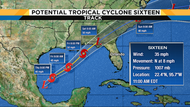 LIVE UPDATES: Satellite, models, track for disturbance in Gulf of Mexico
