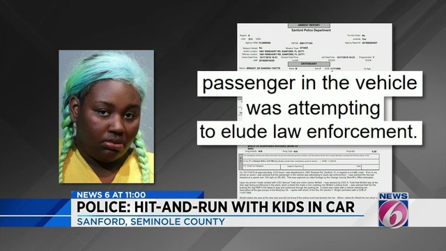Woman drives 100 mph with kids in back seat, police say