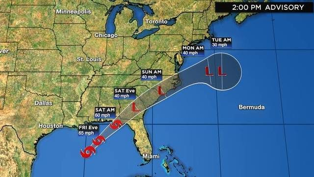 WATCH LIVE UPDATES: Tropical Storm Nestor officially forms in Gulf on…