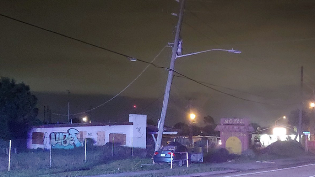 Driver dies after striking power pole in Palm Bay, police say