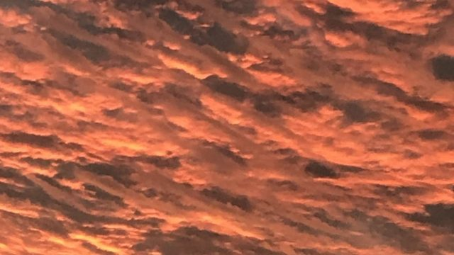 Storm's Coming: Red sky in the morning, sailors take warning