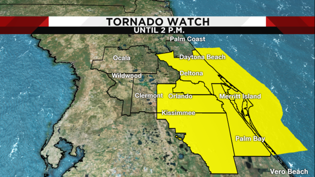 Tornado Watch remains in effect for part of Central Florida