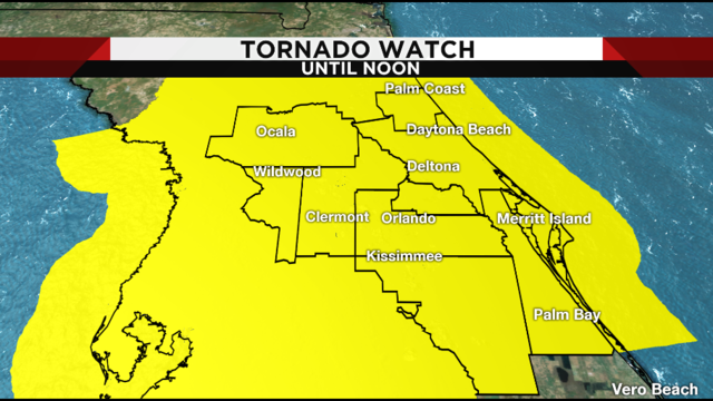 Tornado Watch issued for all of Central Florida