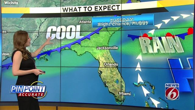 Warm temps, rain in forecast for Monday