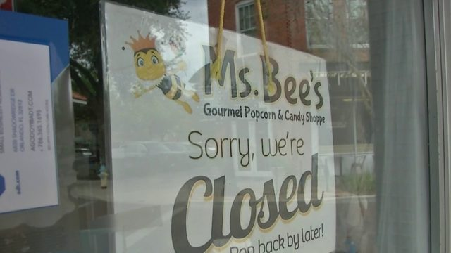 Ms. Bee's Gourmet Popcorn and Candy Shoppe still closed after roof collapse
