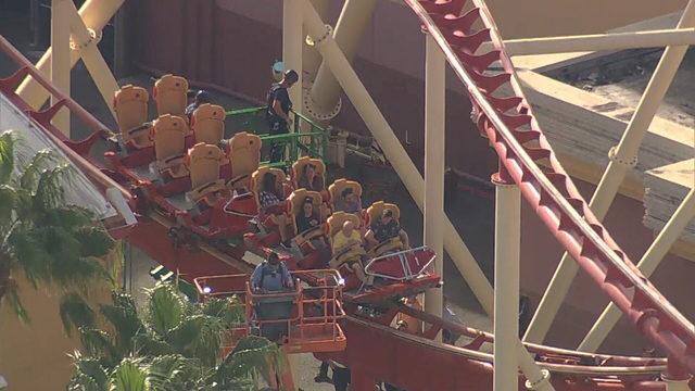 Riders get stuck on Hollywood Rip Ride Rocket at Universal Orlando