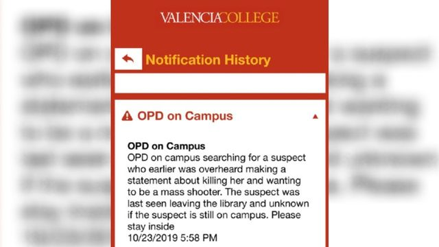 1 person in custody after lockdown at Valencia College