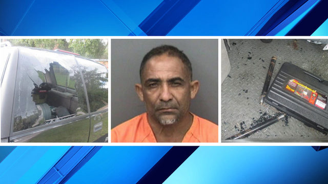 Florida man accused of throwing nunchucks through car window at traffic light