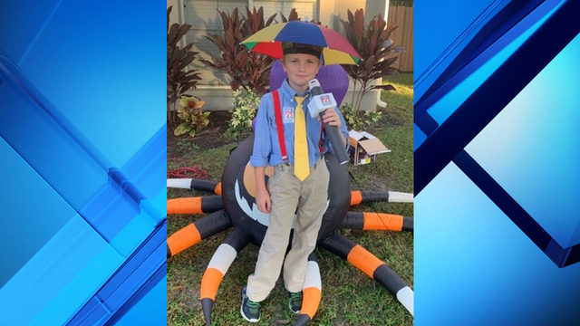 8-year-old dresses up as News 6 meteorologist for Halloween