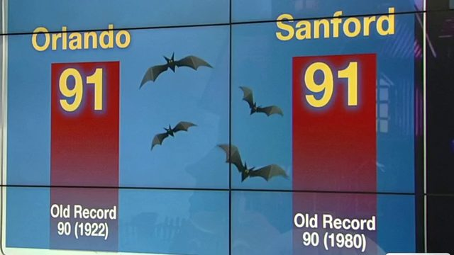 Temps hit 91 in Orlando, warmest Halloween on record