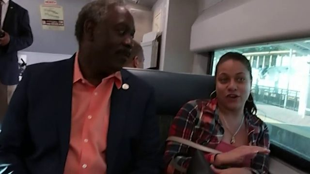 Orange County mayor rides Sunrail to work, pushes to expand public…