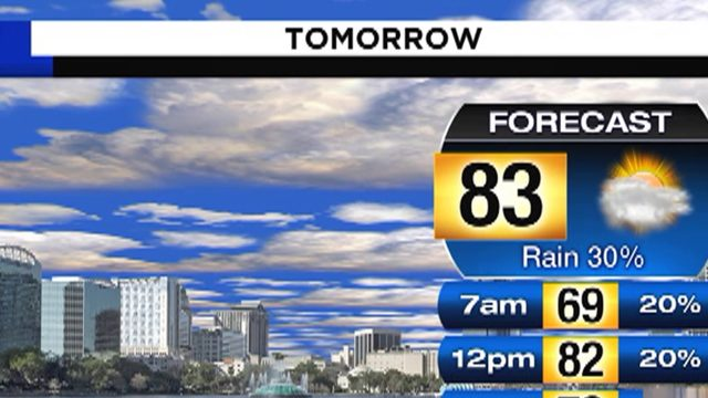Temps could hit 83 in Central Florida on Saturday