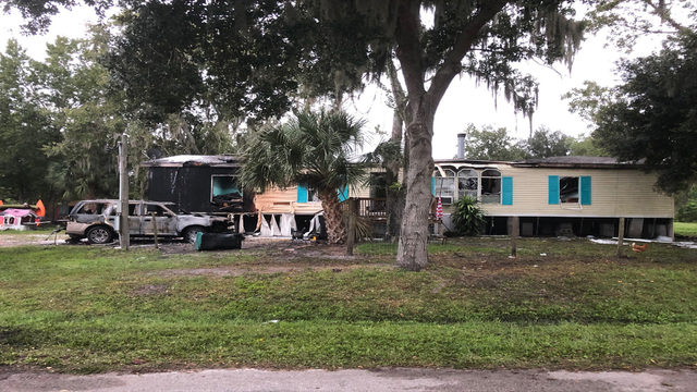Mother, son rushed to hospital after Orange County mobile home fire