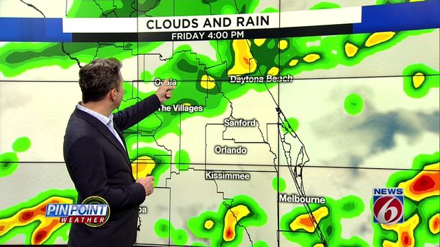 Front brings rain, cooler temps to Central Florida