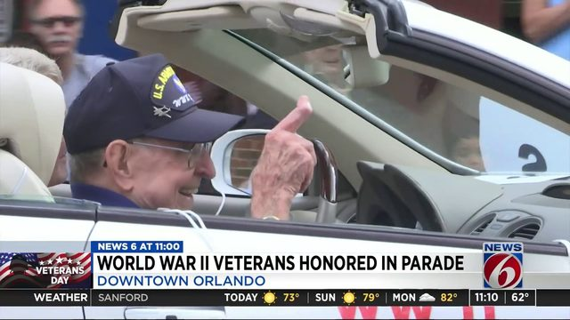 World War II Veterans Honored in Parade