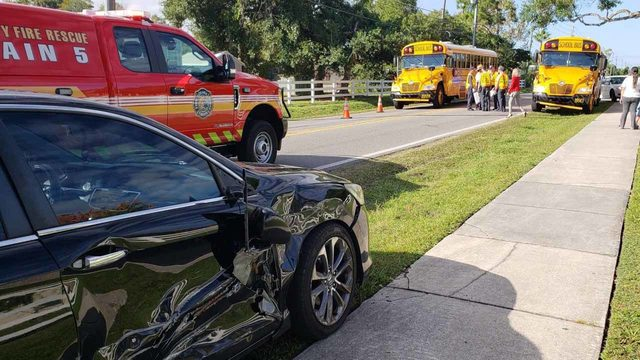 Six students taken to hospital after school bus crash in Orange County
