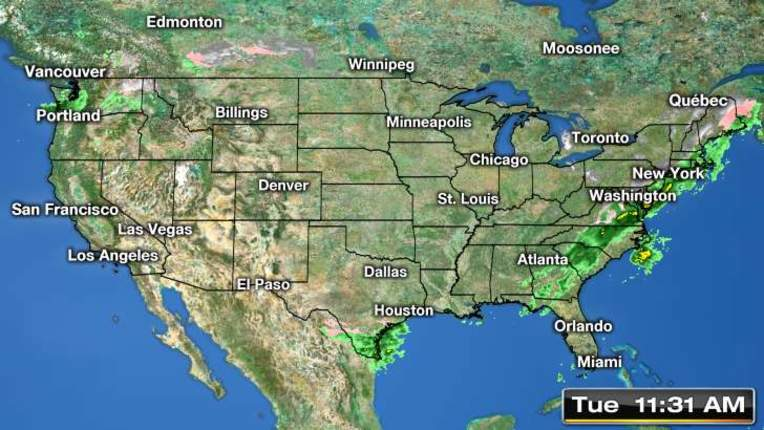 National Weather Radar Maps In Motion National Weather Radar Map - Us radar map forecast