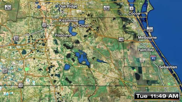Oddly Shaped Weather Map.Weather Orlando Central Florida Forecast Radar